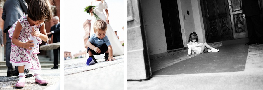 kids or children at wedding in italy