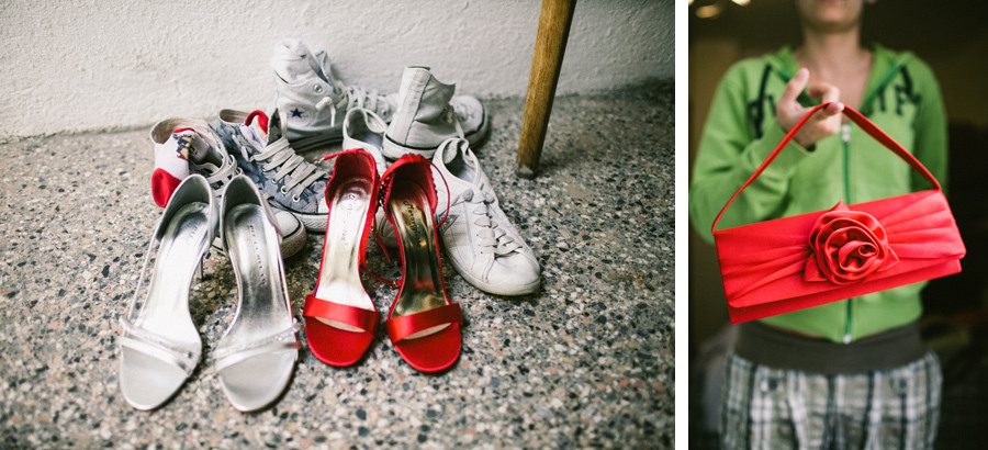 wedding shoes of a lesbian wedding couple in italy