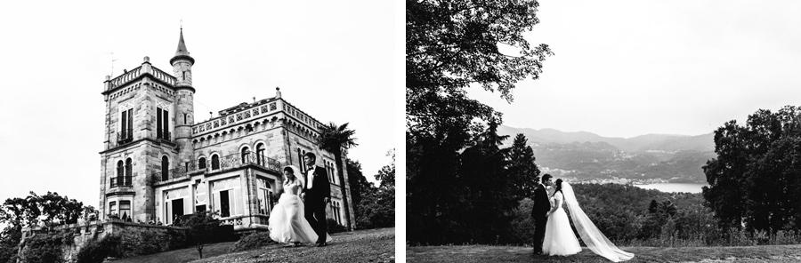 Castello di Miasino, bride and groom portrait session
