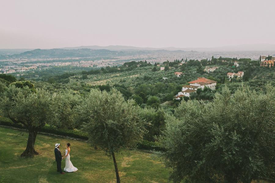 Wedding Portraits Bride and Groom Florence Tuscany Italy