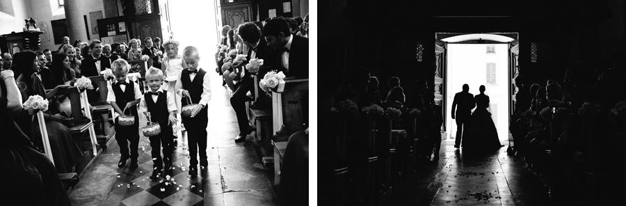 Wedding ceremony at San Leonardo church in Pallanza, Lake Maggiore, Italy.