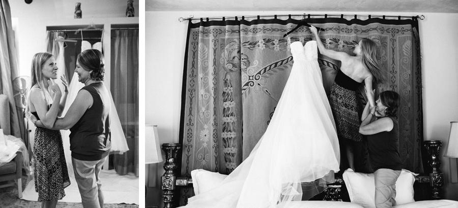 Bride Dress Getting Ready Villa Mangiacane