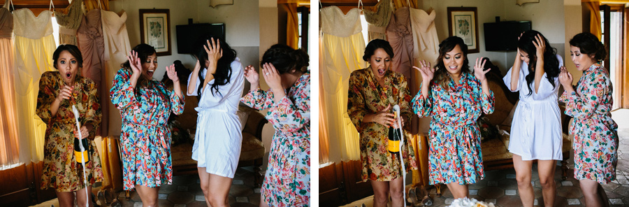 Bride and Bridesmaids Getting Ready Villa BaroncinoWedding