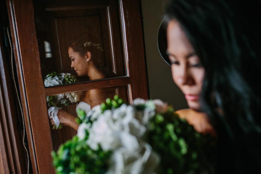 Bride and Bridesmaids Getting Ready Villa Baroncino Wedding
