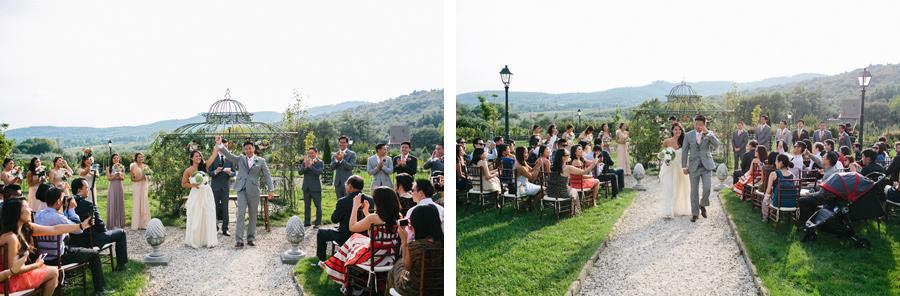 Villa Baroncino Bride and Groom Wedding Ceremony