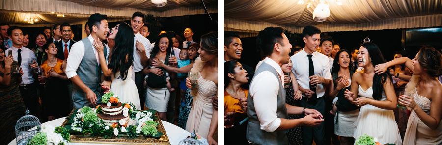 Villa Baroncino Wedding Reception Cake Cutting