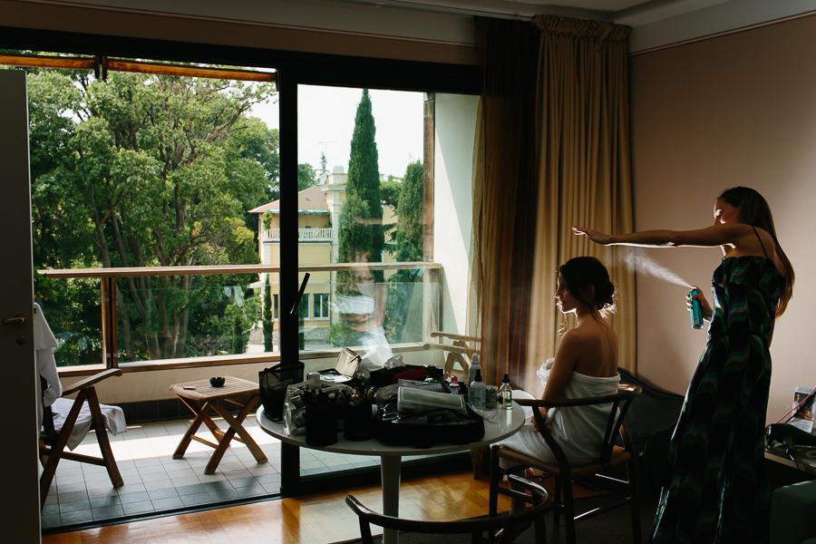 Preparazione Sposa Lago di Garda