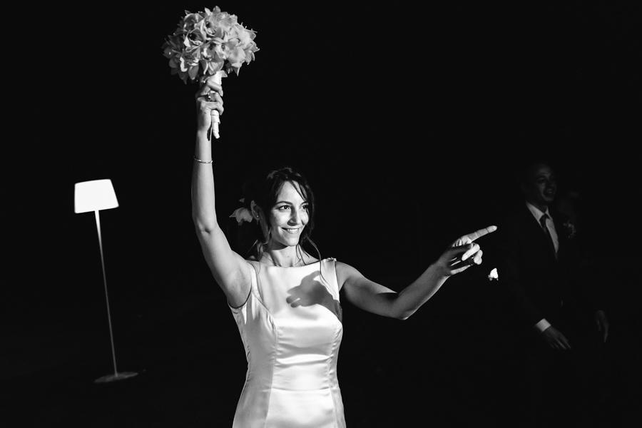Lancio Bouquet Matrimonio Villa La Tassinara