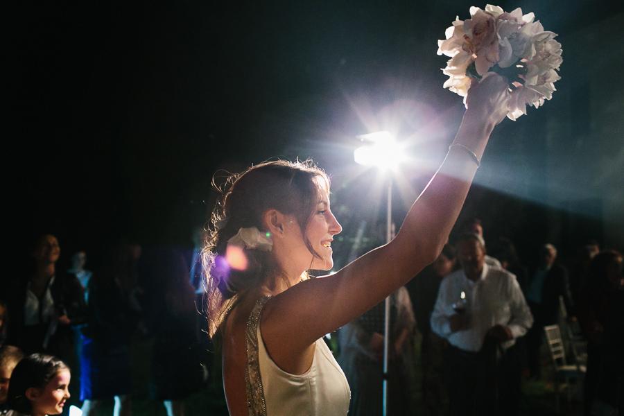 Lancio Bouquet Sposa Matrimonio Villa La Tassinara