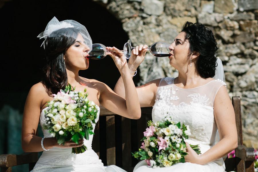 Lesbian Brides Wine Wedding