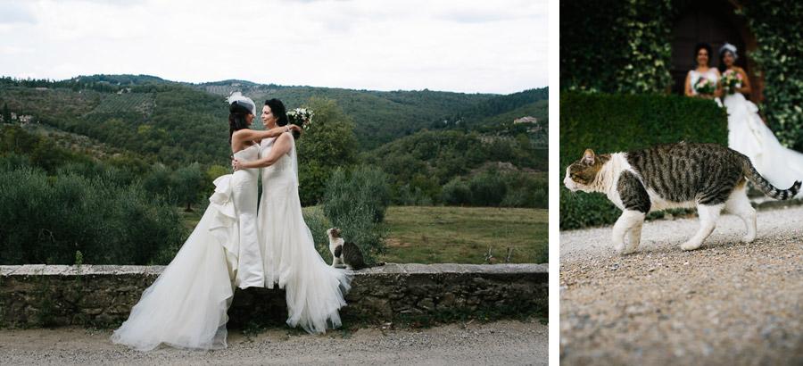 Fattoria Tregole Gay Wedding with Cat