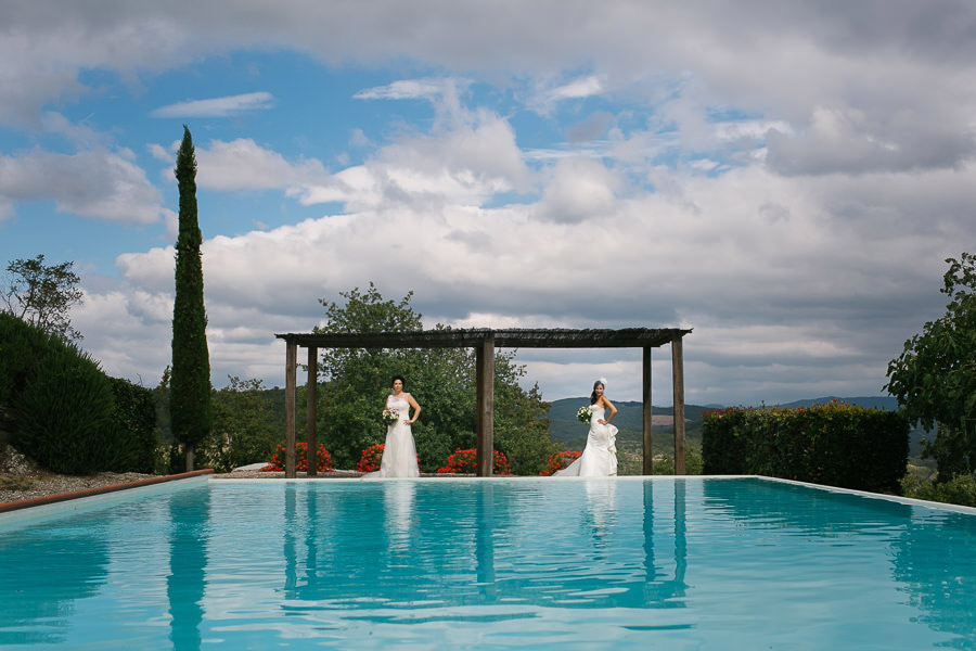 Wedding Bride Fattoria Tregole Tuscany Italy