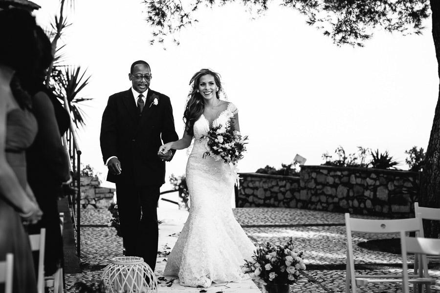 Wedding Ceremony Castelmola Castle Taormina