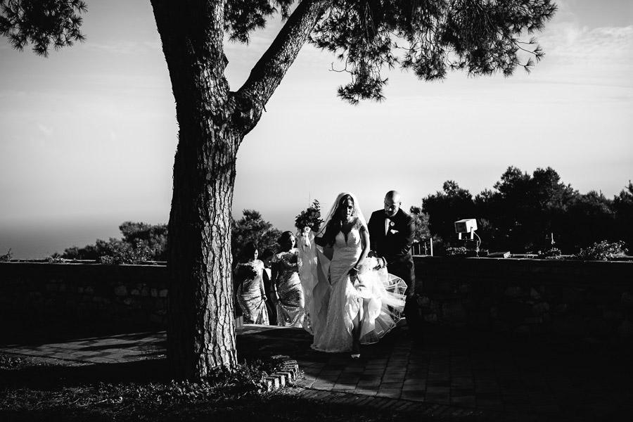 bride wedding Castelmola Castle sicily