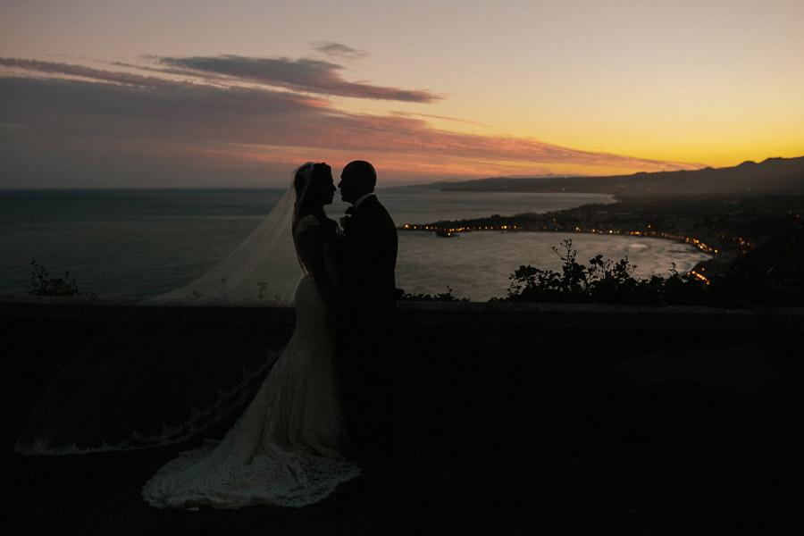 Wedding Portrait Sicily Sunset