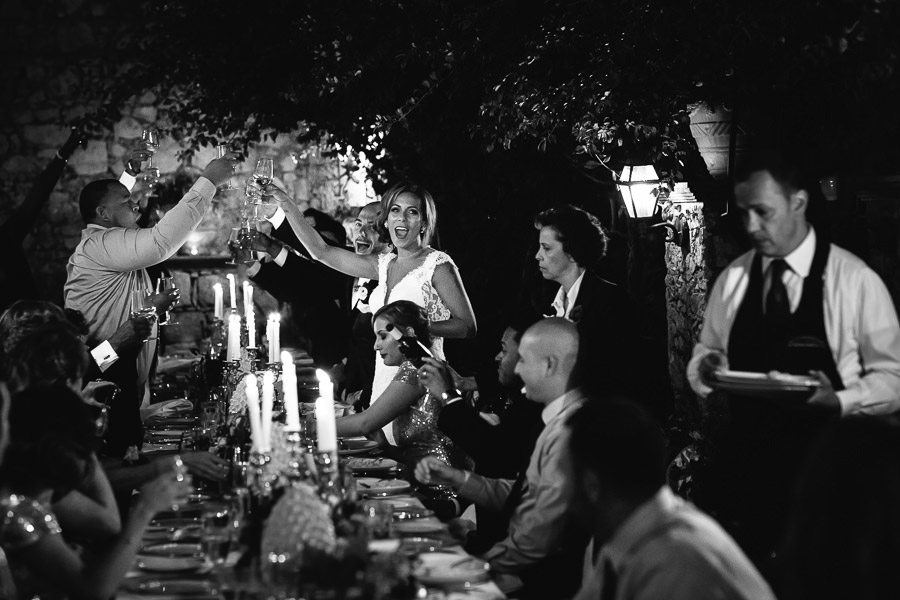 Wedding Dinner Sicily Photographer