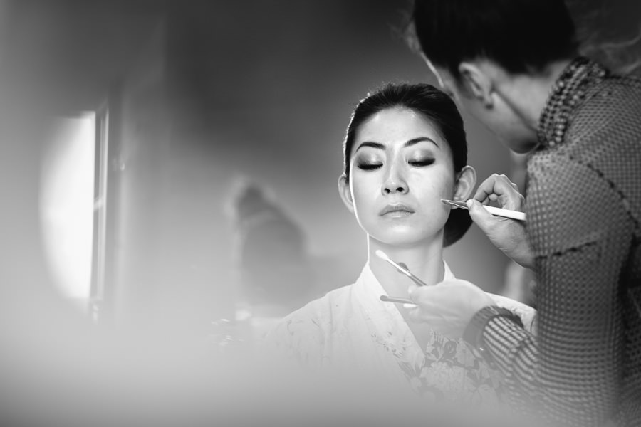 Chinese Bride Getting Ready Makeup