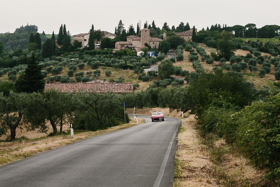 Tuscany Wedding Car Photographer