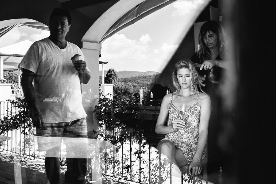 Bride Getting Ready Villa La Selva