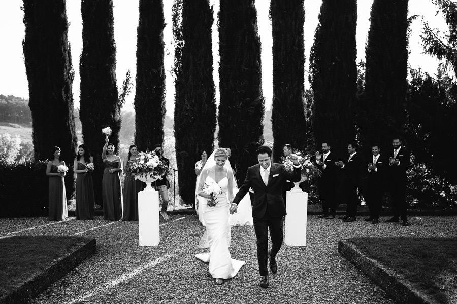 Cypress Trees Wedding Ceremony Tuscany