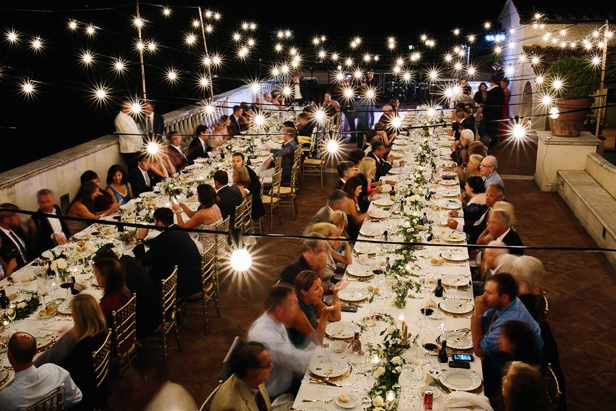 Villa La Selva Wedding Dinner