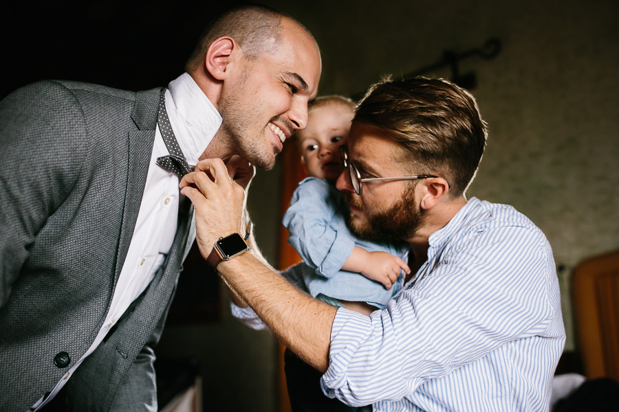 Groom Preparation Tuscany Wedding Photographer